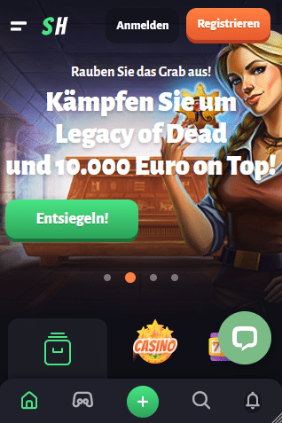 Slothunter Online Casino Einzahlung per Telefon